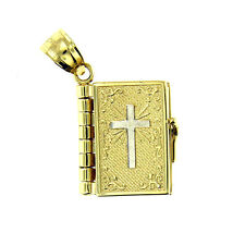 14 KT YELLOW GOLD 3D BIBLE CHARM