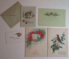 Vintage Christmas card lot of 5 cards from early 20th century