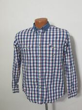 Roper Shirt, Kid's XL, Button Up Western Cowboy, Blue/White/Red Plaid, Inv#Z9395