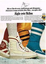 Publicité Advertising 1973 Les Chaussures Bottes Aigle après-ski