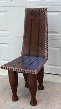 EARLY 20C AFRICAN CHIEF'S OR ELDERLY'S PRESTIGE HEAVY WOOD CHAIR COTE d' AVOIRE