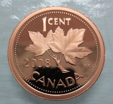 2008 CANADA 1 CENT PROOF RARE NON-MAGNETIC PENNY COIN