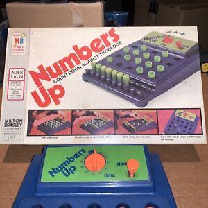 Numbers Up Vintage Game By Milton Bradley