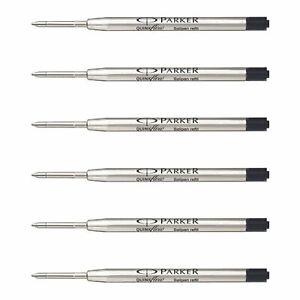 Parker Quink Flow Ball Point Pen Refill FINE 0.8mm Nib Black Ink - Set of 5
