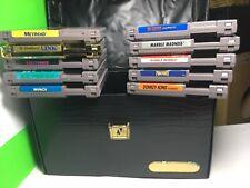 Nes 10 Game Lot With Nintendo Case Metroid Zelda II Donkey Kong Bubble Bobble
