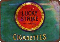 "Lucky Strike Cigarettes Vintage Rustic Retro Metal Sign 8"" x 12"""
