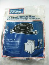 "Master Plumber 5 ft. High Pressure Hose 3/4"" Couplings Washing Machine"