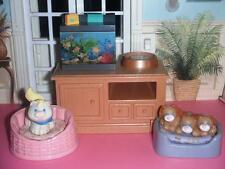 Fisher Price Loving Family Dollhouse Pet Center Lights Up Sounds Aquarium Accs