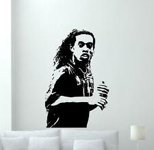 Ronaldinho Wall Decal Football Vinyl Sticker Kids Soccer Art Decor Mural 5zzz