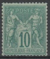 "FRANCE STAMP TIMBRE N° 65 "" SAGE 10c VERT TYPE I 1876 "" NEUF xx TB   N266"
