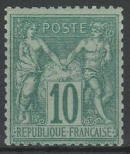 "FRANCE STAMP TIMBRE N° 65 "" SAGE 10c VERT TYPE I 1876 "" NEUF xx TB   N266"