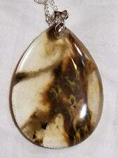 brown fire cherry quartz pendant bead chakra healing FREE SHIPPING