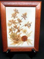 Vintage Wild Flowers Art Framed Pressed Dried Pretty 8.25 x 6.25