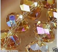 198pcs Beautiful Swarovski Yellow Crystal Gemstone Loose Beads 4x3mm