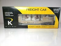 K-Line K661-5202 Heinz 9 Lives Cat Food Flat Car with Ends & Vats New in Box