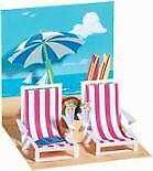 Up with Paper Pop Up Greeting Card - Beach Chairs
