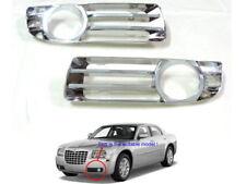 Chrome Front Bumper Fog Light Lamp Trim Cover For 2005 - 2010 Chrysler 300