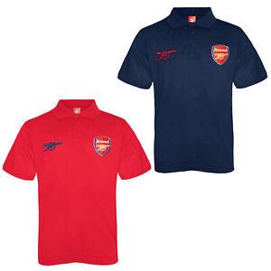 Arsenal FC Boys Polo Shirt Crest Kids OFFICIAL Football Gift