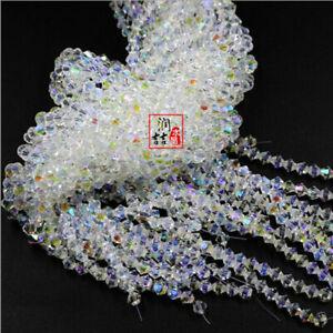 Wholesale 2/3/4/5/6/8mm #5301 Swarovski Crystal AB Loose Spacer bicone Beads