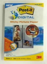 3M Post-It Digital Sticky Picture Paper 4'' x 6'' Matte - 25 sheets