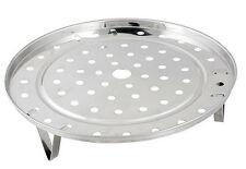 Stainless steel trivet tray for camp oven 195mm x 6mm rim clipin legs bake roast