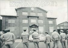 1974 Guards Outside Huntsville State Prison Texas Press Photo