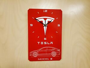 Tesla inspired Wall Clock, Model S, Model 3, Model X and CyberTruck.Collectible