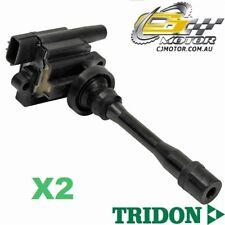 TRIDON IGNITION COIL x2 FOR Mitsubishi  Pajero iO QA 03/99-09/03, 4, 1.8L 4G93