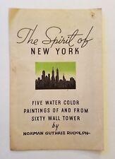 The Spirit Of New York By Norman Guthrie Rudolph, Koolmotor Oil 1939 Worlds Fair
