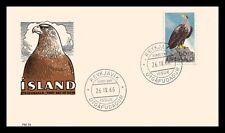 Iceland 1966 FDC, Sea-Eagle. Lot # 1.