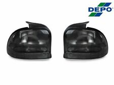 DEPO Pair of All Smoke Rear Tail Lights For 1995-1999 Dodge/Plymouth Neon