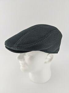 FEINION Men Mesh Newsboy Cap Flat Cabbie Driving Hat - Grey Size 7-3/8 59cm M-L