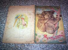 ALBUM figurine ANIMALI DI TUTTO IL MONDO ED.LAMPO 1951 COMPLETO BUONO NO PANINI