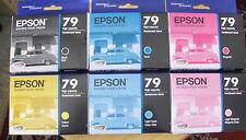 Set 6 Genuine Epson 79 T079 InksT0791-T0796 (no box) OEM_Printer1400/1430