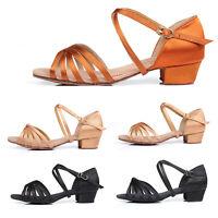 Ballroom Salsa tango latin dance shoes For children girls women kids 18.5-25CM
