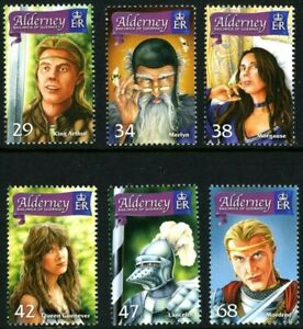 ALDERNEY 16 FEB 2006 THE ONCE & FUTURE KING SET ALL 6 COMMEMORATIVE STAMPS MH
