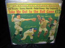 "PHIL RIZZUTO/ MEL ALLEN take me out to ball game ( spoken ) 7""/45 picture sleeve"
