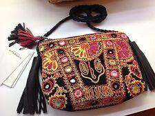 NWT Antik Batik Embroidered Cotton Mini Crossbody 8.75