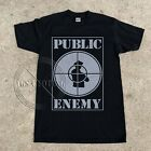 Vintage 90s' Public Enemy PE Gildan T-Shirt Rap Hip Hop FIGTH THE POWER reprint