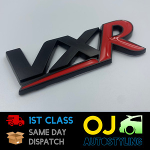 VXR Badge Black & Red Corsa D/E Astra H/J Boot Tailgate Opel Vauxhall Dechrome