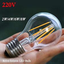 Vintage Filament LED Bougie Ampoule 220V E27 - 2W 4W 6W 8W - LIVRAISON GRATUITE