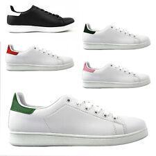Scarpe da Uomo Donna Sneakers in Pelle Bianche Sportive Ginnastica 36 38 43 45