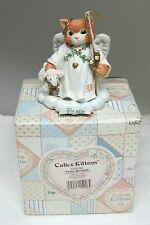 1994 Peace on Earth Calico Kittens 625256 Priscilla Hillman Mib + Chrismas T19