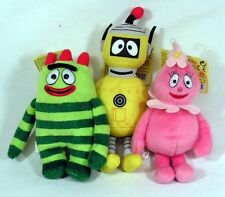 "Set of 3 - Yo Gabba Gabba 8"" Plush - Brobee, Plex and Foofa - New - Free US SHIP"