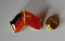 FREUNDSCHAFTSPIN PIN 0048 ANSTECKER DEUTSCHLAND / CHINA FAHNE METALL PINS NEU