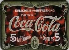 Metalen Kaart/Tin-Card/Blechkarte - Delicious and refreshing Coca Cola (027)