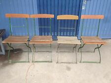Antik 4x Gartenstühle Klappstuhl Biergarten Garten Stuhl Metall Grün 20er  30er/5
