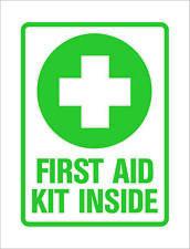 First Aid Kit Inside Sticker Die Cut Decal Self Adhesive Vinyl Car Window Decor