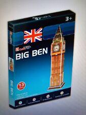 3D Puzzle Place Cubic Fun Big Ben puzzle 13 pieces. NIB