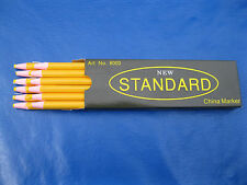 YELLOW CHINA MARKERS PEEL-OFF GREASE PENCIL (12 COUNT) NEW STANDARD